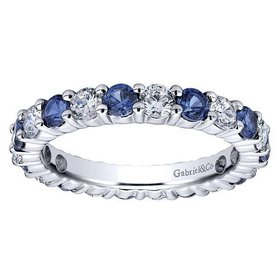AN11340 diamond sapphire eternity band