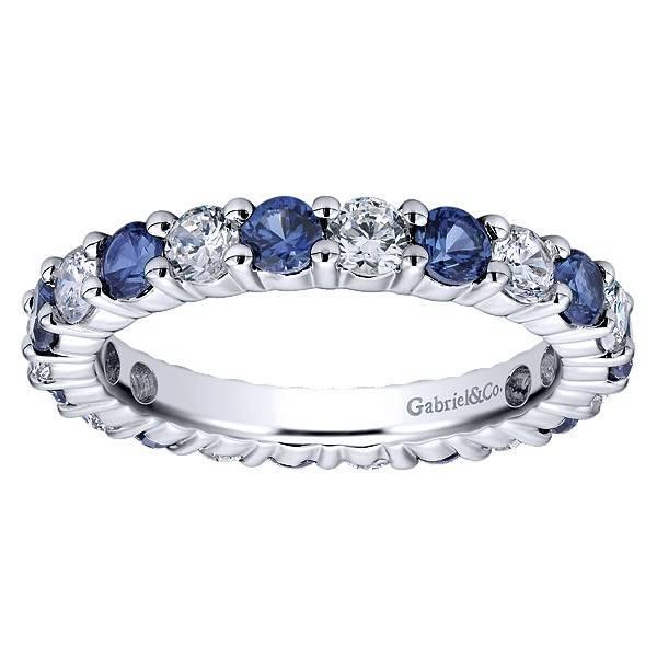 AN11340 diamond sapphire eternity band