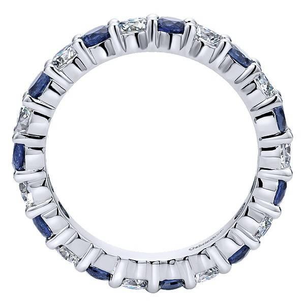 Gabriel & Co AN11340 diamond sapphire eternity band