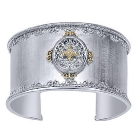 BG2620 Silver and 18kt yellow gold cuff bracelet