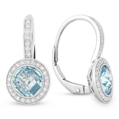 Madison L DE10510 blue topaz drop earrings