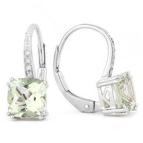 E1033 Green Amethyst Drop earrings