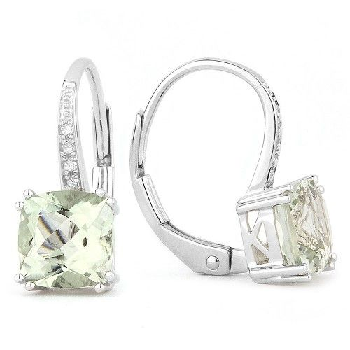 DE8208 Green Amethyst Drop earrings