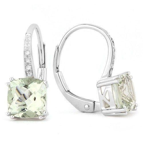 Madison L E1033 Green Amethyst Drop earrings