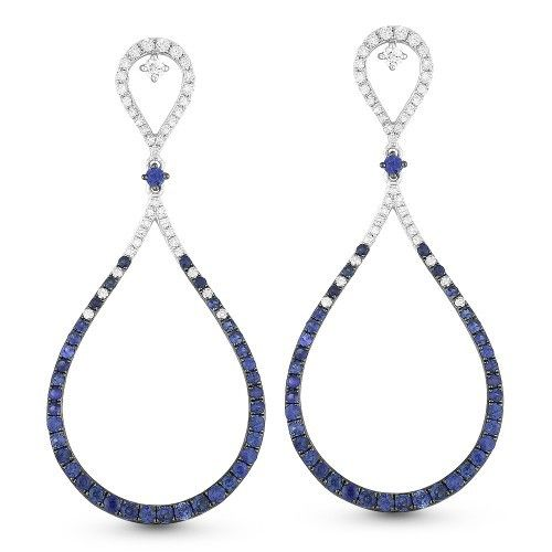 Madison L DE10920 sapphire and diamond drop earrings