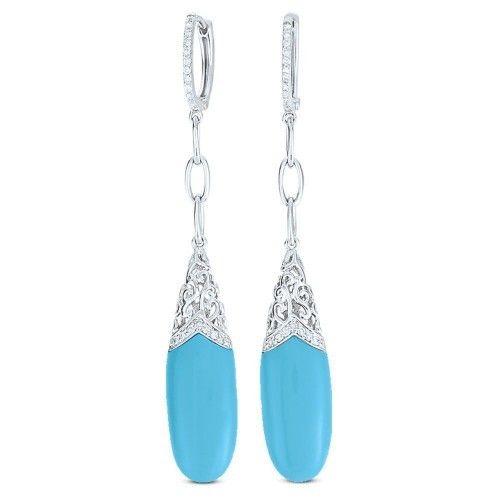 Madison L DE8667 turquoise drop earrings