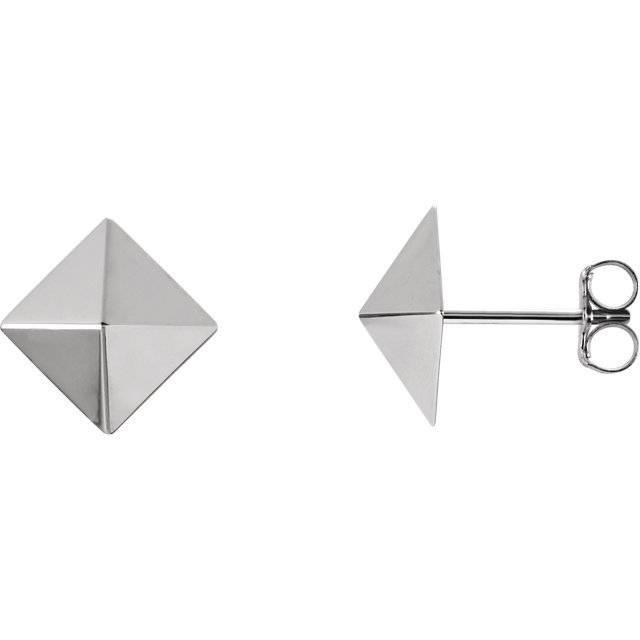 Stuller 85888 14k pyramid earrings