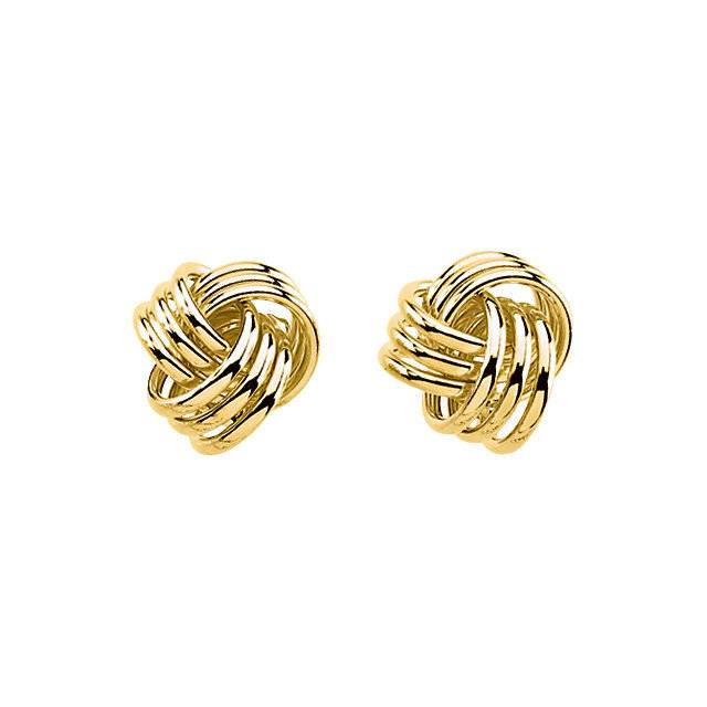 14kt Yellow Gold Knot Earrings