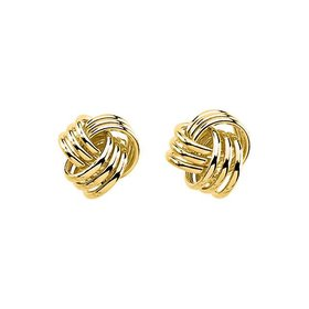 2713 Yellow Gold Knot Earrings