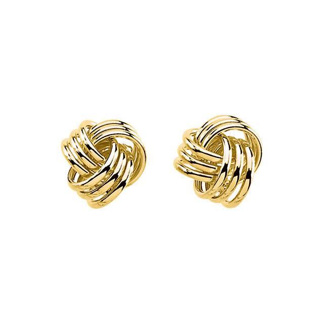Stuller 2713 Yellow Gold Knot Earrings