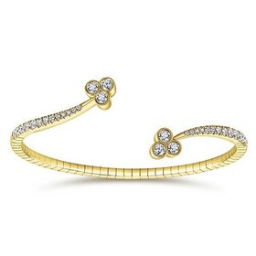BG3983 yellow gold bangle