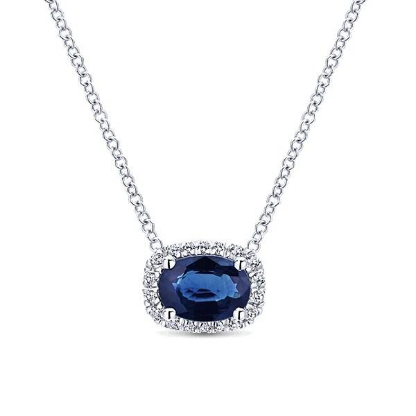 NK5309 sapphire and diamond necklace