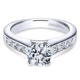 ER3962 Channel Set Engagement Ring Setting