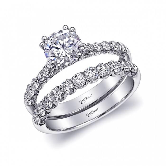 Coast WS15001 prong diamond band 0.54ct 14k