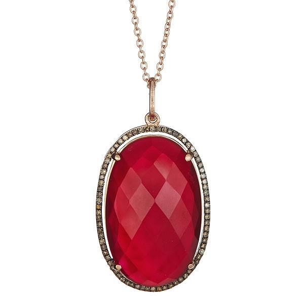 CP416B-A  Red Agate Necklace