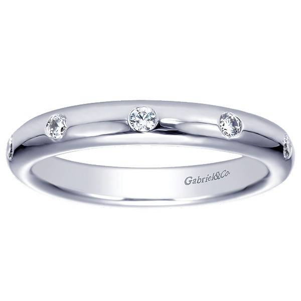 Gabriel & Co AN6006 burnish set diamond band