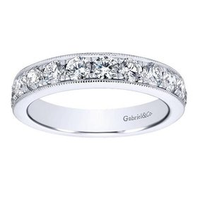 AN12080 milgrain beadset diamond band