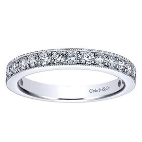 AN12078 milgrain beadset diamond band