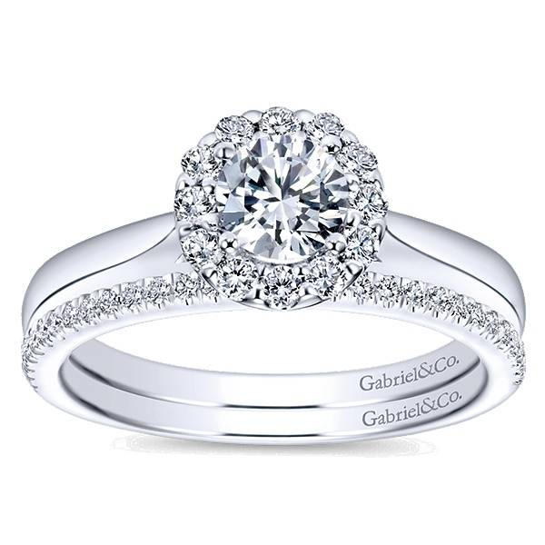 Gabriel & Co ER7497 round halo engagement ring setting