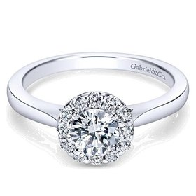 ER7497 round halo engagement ring setting