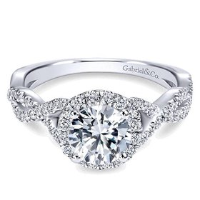 ER7543 criss cross halo engagement ring setting