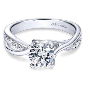 ER6360 bypass diamond engagement ring