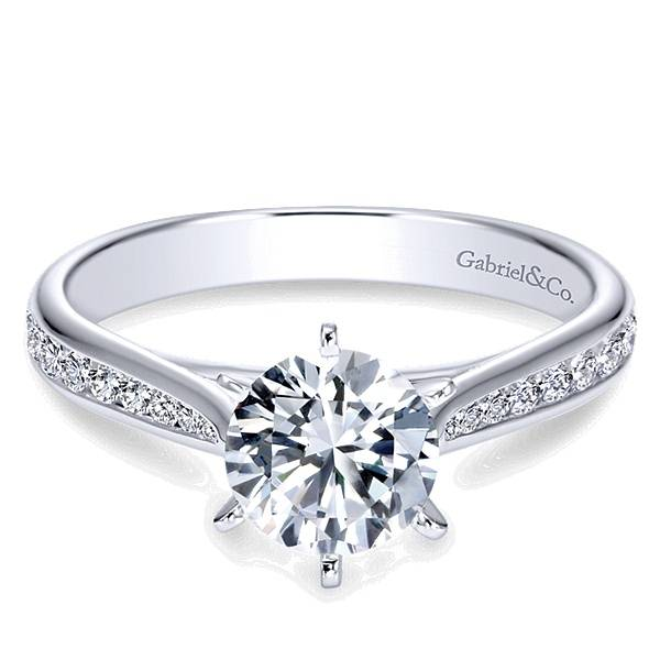 Gabriel & Co ER7229 Channel Set Diamond Engagement Ring