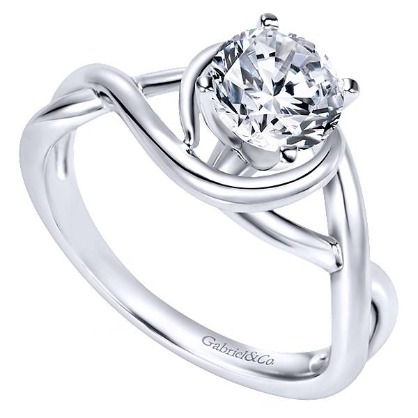 Gabriel & Co ER9179 Twisted Solitaire Engagement Ring
