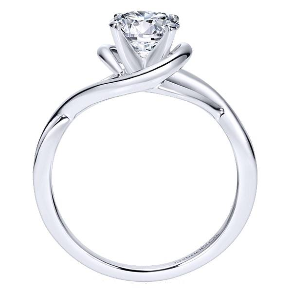 Gabriel & Co ER9179 twisted solitaire