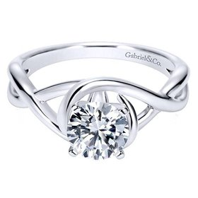 ER9179 Twisted Solitaire Engagement Ring