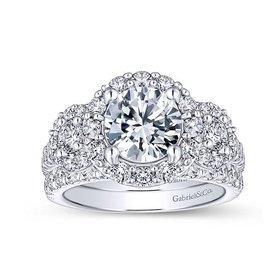 ER14066 3 stone halo setting