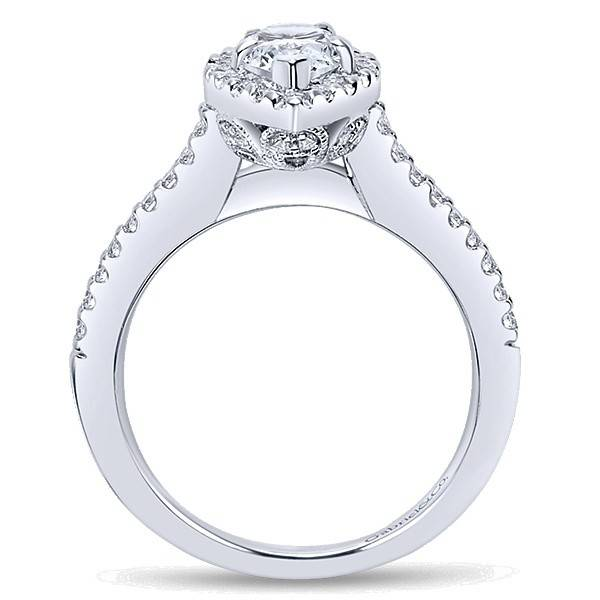 Gabriel & Co ER5828 Pear Shape Halo