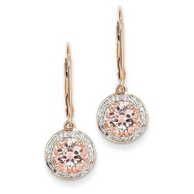 XE2163 morganite diamond earrings