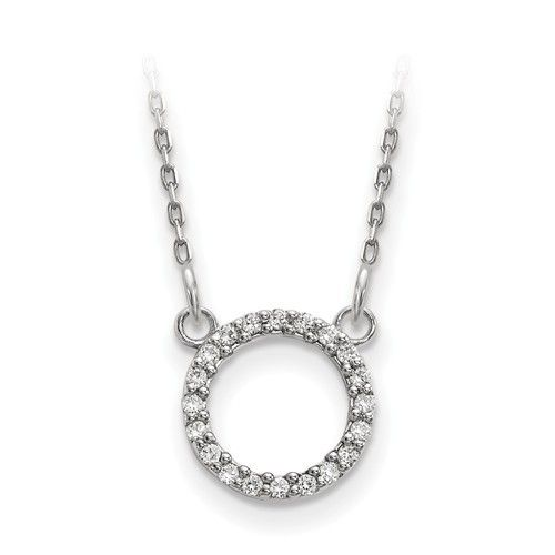 Q Gold XP5027 diamond circle necklace