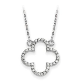 XP5050 Diamond Quatrefoil necklace