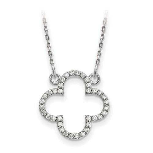 Diamond quatrefoil necklace freedman jewelers boston freedman q gold xp5050 diamond quatrefoil necklace aloadofball Choice Image