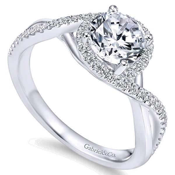 Gabriel Er7804 Criss Cross Halo Engagement Ring
