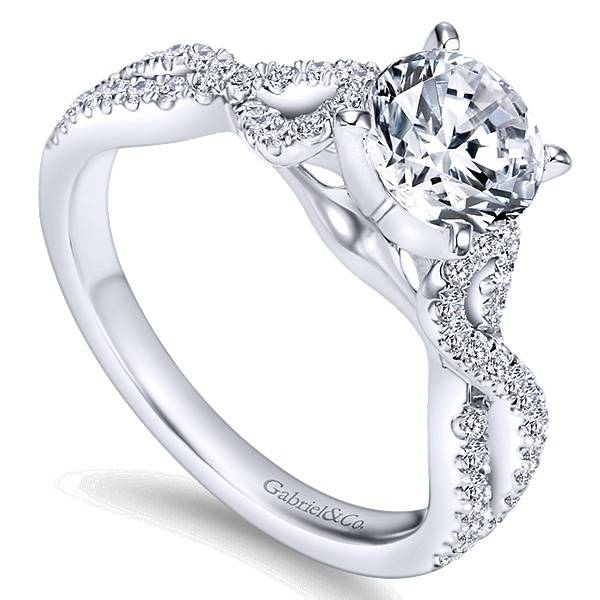 Gabriel & Co ER7805 Twisted Engagement Ring