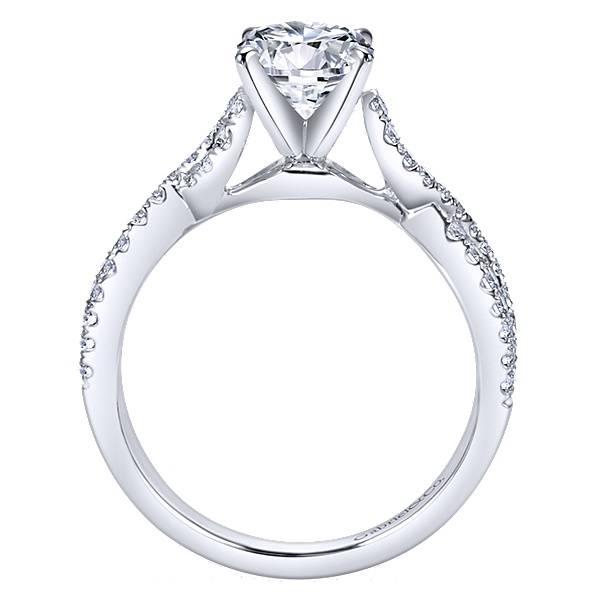 Gabriel & Co Kayla Twisted Engagement Ring Setting