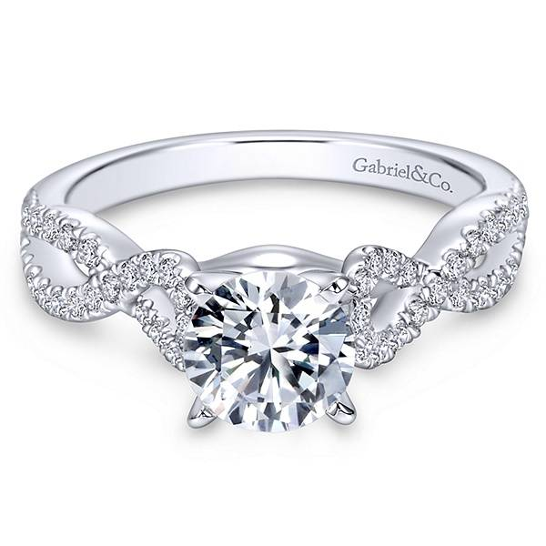 ER7805 Twisted Engagement Ring