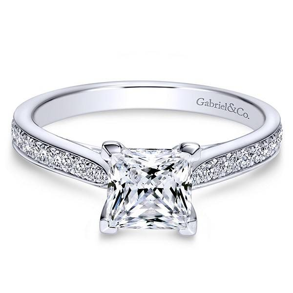 ER8916 Princess Diamond Accent Setting