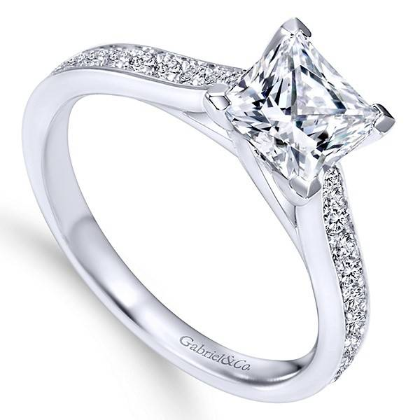 engagement princess classic item solitaire diamond ring