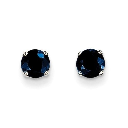 Q Gold XBE140 sapphire stud earrings