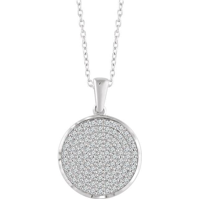 Stuller 652497 Round Diamond Cluster Necklace