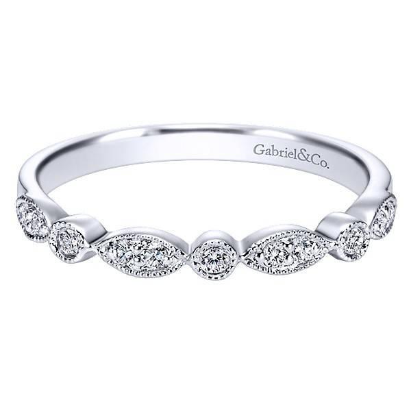 Gabriel & Co WB3848 vintage style diamond band