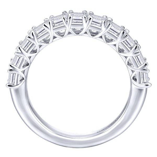 Gabriel & Co AN12383 emerald cut diamond band