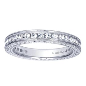 AN3094 engraved  eternity band 0.85ct 14k