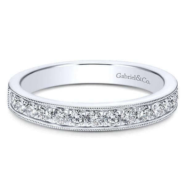 Gabriel & Co AN7644 milgrain diamond band