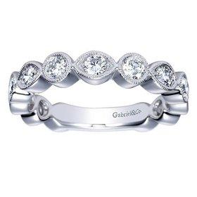 AN8388 bezel set diamond band