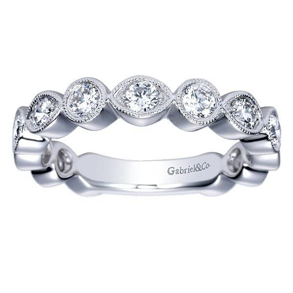 Gabriel & Co AN8388 bezel set diamond band